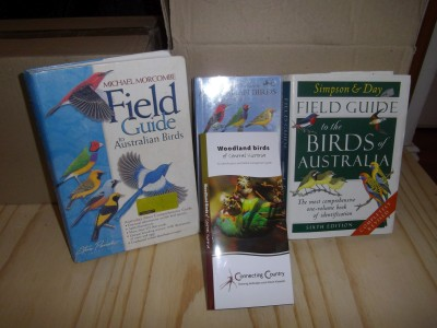 A small sample of the books and brochures about Australian birds.