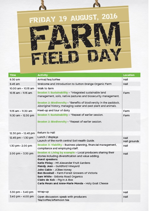 farm field day agenda